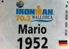 Startnummer Mario Muhren IM 70.3 Mallorca 2013