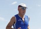 Laufstrecke IM 70.3: Triathlet Mario beim Halbmarathon
