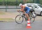 Fitnesstrainer Mario Muhren beim Bayer Triathlon 2012